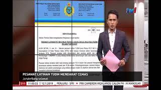 PESAWAT LATIHAN TUDM MENDARAT CEMAS   JURUTERBANG SELAMAT