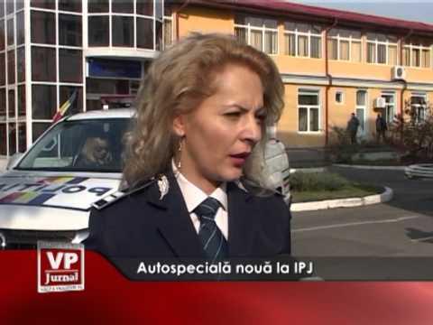 Autospecială nouă la IPJ