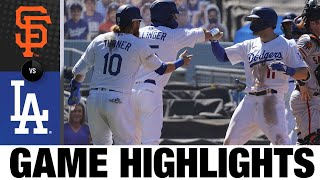 AJ Pollock, Mookie Betts Homer In 6-2 Win | Giants-Dodgers Game Highlights 8/9/20