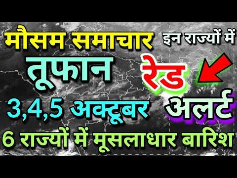 राजस्थान 3 अक्टूबर 2019 का मौसम की जानकारी Mausam ki Janakri june ka mausam vibhag aaj Weather News