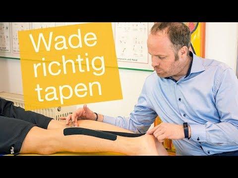 Wade tapen ✅ Zerrung   Muskelfaserriss   Achillessehnenschmerzen (Anleitung)