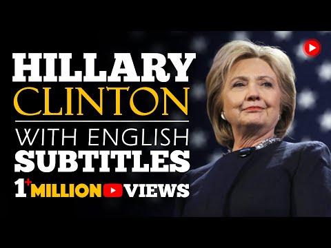 ENGLISH SPEECH   HILLARY CLINTON: Be Resilient (English Subtitles)
