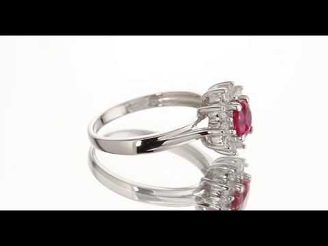 0.75 cts Round Cut Ruby Sterling Silver Ring SR9746 by Peora Jewelry