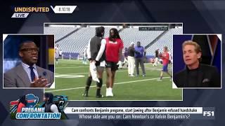 Whose side are you on: Cam Newton's or Kelvin Benjamin's? |  Undisputed 08/10/2018
