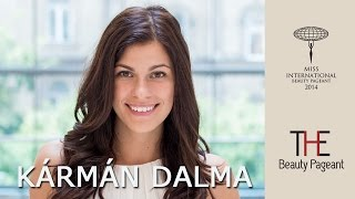 Karman Dalma Miss International 2014 Hungary Presentation Video