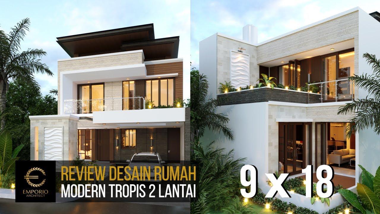 Video 3D Desain Rumah Modern 2 Lantai Bapak Zulfic di Palangka Raya, Kalimantan Tengah