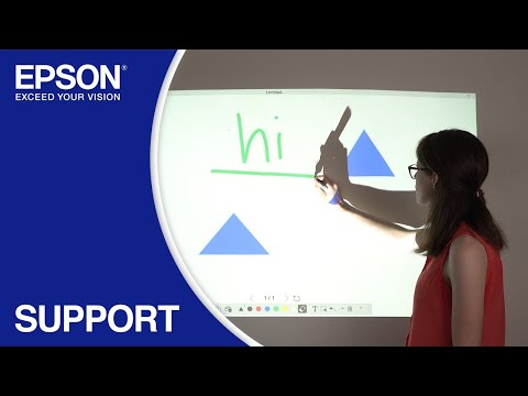 Epson Easy Interactive Tools | Using Whiteboard Mode