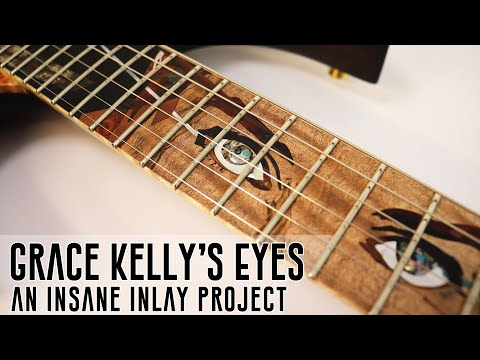 How To Inlay Grace Kelly's Eyes in a Custom Guitar - a Stunning Masterclass.