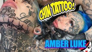 Amber Luke Gets A Chin Tattoo! FULL VIDEO!!