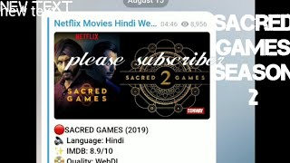 how to download sacred games season 1 from telegram - Kênh