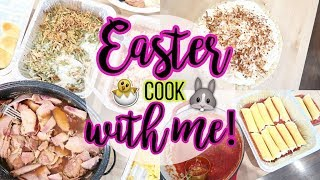 Easter Dinner Cook with Me! 🍖 Ham 🥔 Instant Pot Mashed Potatoes 🍝 Manicotti 🥥 Coconut Cream Pie