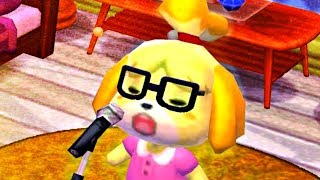 Isabelle  - (Animal Crossing) - Isabelle sings to the beat