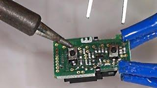 Schlüssel Reparatur Mikroschalter löten und knöpfe erneuern