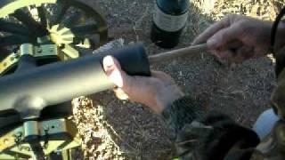 First firing of hand made 1/4 scale Civil War black powder golf ball cannon