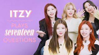 ITZY On Heartbreak, Their Dream Collab, Favorite Tour Moments, and More! | 17 Questions | Seventeen by Seventeen Magazine
