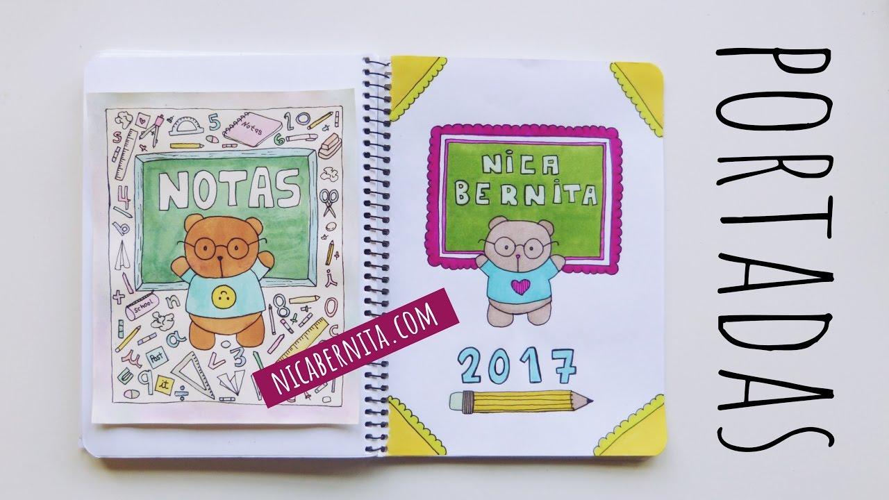 Dibujos Para Colorear De Libro Y Libreta: PORTADAS PARA CUADERNOS. Decora Tus Libretas Con Dibujos