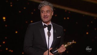 JOJO RABBIT Accepts the Oscar for Adapted Screenplay