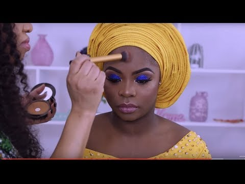 CLIENT GELE AND MAKEUP TRANSFORMATION / NIGERIAN WEDDING COMPLETE VLOG 3