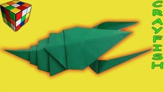 Как сделать РАКА из бумаги. Рак оригами своими руками. Поделки из бумаги