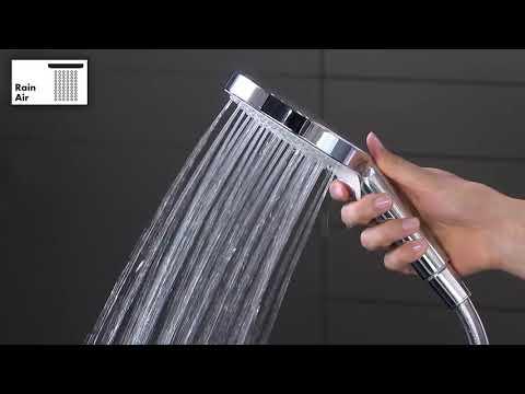 Hansgrohe Raindance E 300 regendoucheset thermostatisch wit/chroom