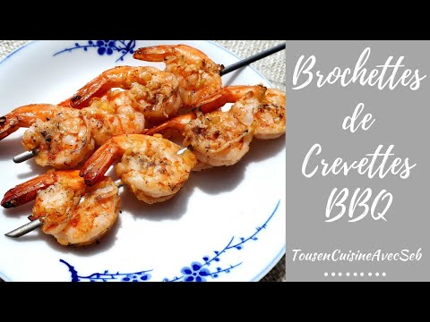 Brochettes de crevettes BBQ (tousencuisineavecseb)