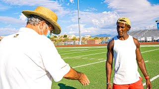 NFL COACH TEACHES ME SECRETS THAT'LL GET ME ON A TEAM! (PRIVATE TRAINING SESSION)