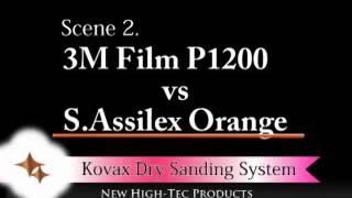 เทียบงานขัดผิวสีรถ ด้วยกระดาษทราย Kovax Super Assilex Orange กับ 3M
