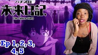 Enter Yukiteru Amano & Yuno Gasai! | Future Diary Episodes 1-5 BLIND REACTION