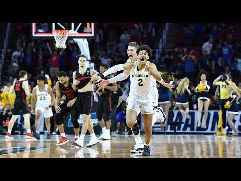 Watch last 90 seconds of Michigan's miraculous buzzer-beater win in 2018 NCAA tournament