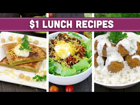 Video Healthy $1 Lunch Recipes - Easy Budget Meals! - Mind Over Munch