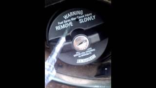 Gas cap unlocked when key is broken or lost