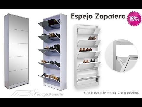 Mueble Zapatero con Espejo capacidad para 20 pares - aPreciosdeRemate