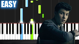 Shawn Mendes   Mercy   EASY Piano Tutorial By PlutaX
