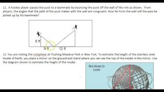 Day 5 HW   #10 To #12   Using Similar Triangles To Solve Real World Problems Applications