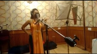 Aankh Marey : Making Video At Recording Studio Neha Kakkar
