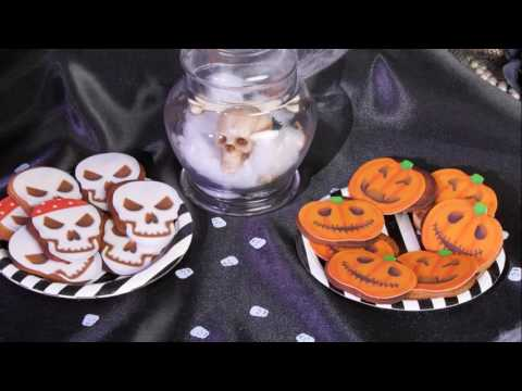 Halloween recept pompoen en doodshoofd koekjes