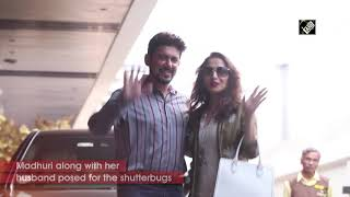 Madhuri Dixit, Hrithik Roshan spotted in Mumbai with family