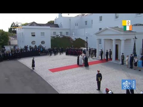 Le pape en Irlande : cérémonie de Bienvenue