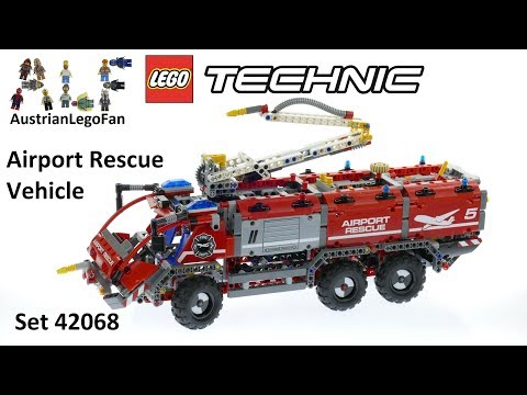 Lego Technic 42068 Airport Rescue Vehicle Lego Speed Build Review