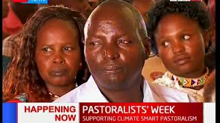 Kajiado Governor Joseph Ole Lenku officiates the opening of the Pastoralists' week