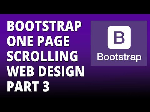 Bootstrap one page scrolling web design part 3 - Twitter Bootstrap