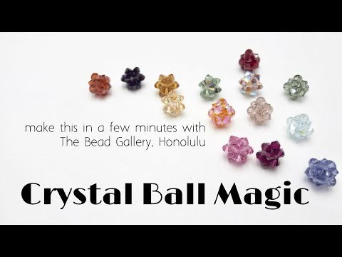 Crystal Ball Magic - Easy Beadweaving Tutorial at The Bead Gallery!