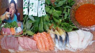 จุ๊ปลาดิบ!!มากินซาซิมิปลาทะเลดิบๆด้วยกันครับผม - dooclip.me