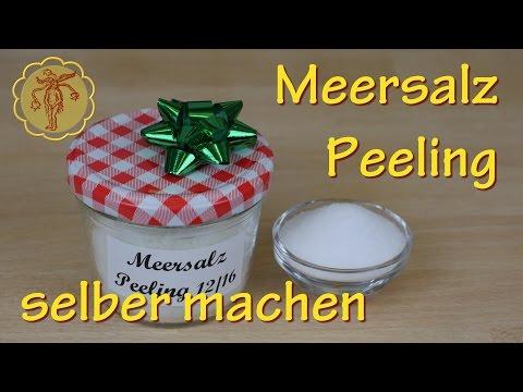 Last-Minute-Geschenkidee: Meersalz-Peeling selber machen - Wellness nach dem Duschen und Sauna