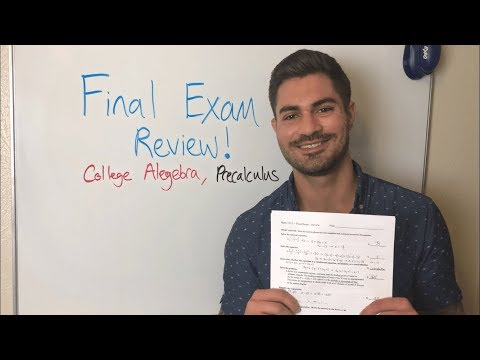 College Algebra Final Exam Review | Part One - YouTube