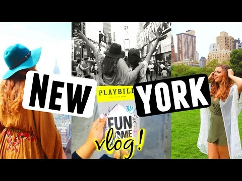 Video NEW YORK CITY TRAVEL DIARY 2016! Broadway Stage door, 5th Avenue + Top of the Rock!