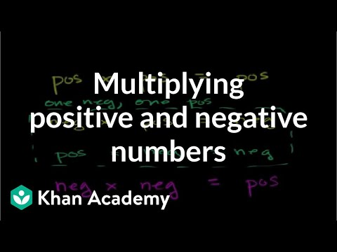 Multiplying positive & negative numbers (video) | Khan Academy