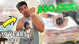 19 YEAR OLD BUYS A $50,000 LUXURY WATCH