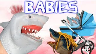 SHARK PUPPET HAS BABIES!!!!!