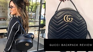 GUCCI MARMONT QUILTED LEATHER BACKPACK REVIEW | Lina Noory